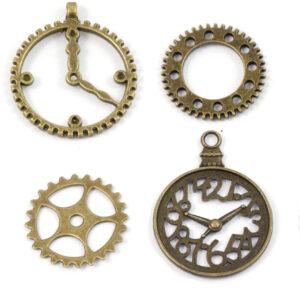 Steampunkzahnräder bronze