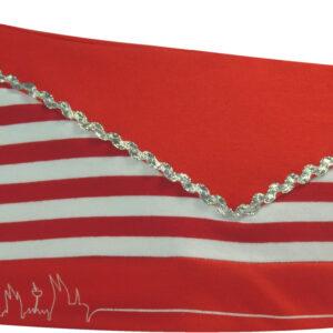 Karnevalsmütze Ringel rot/weiss Skyline