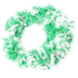 Federboa Lurex grün-weiß 1.80m