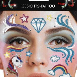 Gesichts-Tattoo Einhorn
