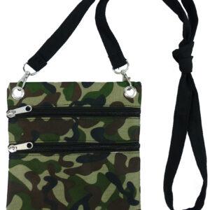 Umhängetasche Camouflage grün-braun-schwarz