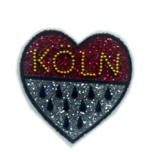 Kölle Strass Tattoo Wappen Herz
