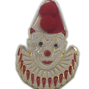 Ansteckpin Pierrot rot-weiß