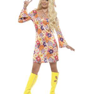Flower Hippie Costume, Multi-Coloured S