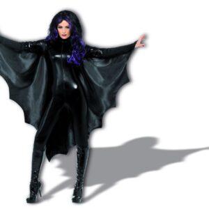 Vampire Bat Wings, Black, with High Collar, in Display Pack