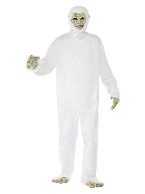 Yeti Costume with Foam Latex Mask, Hands, Feet and Bodysuit, in Display Bag