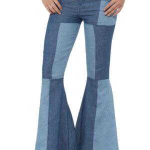 Patchwork Jeans Schlaghose Gr. L