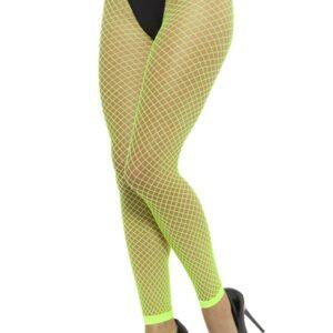 Neongrüne, fußlose Netzstrumpfhose