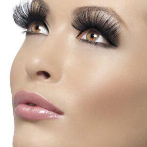 Eyelashes, Black, 60's Style, Long