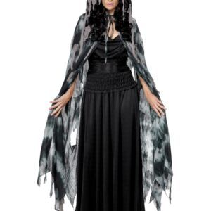 Gothic Manor Ghost Cape, Grey, in Display Bag
