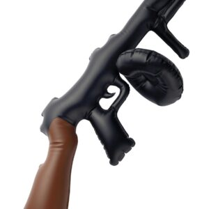Inflatable Tommy Gun, Black, 75cm