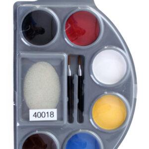 Schminkpalette 6 Farben Pinsel