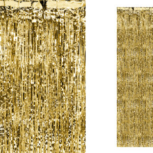 Gold Metallic Partyvorhang 250 x 90 cm