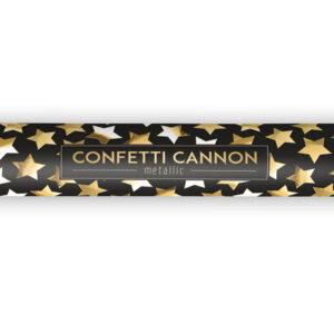 Konfettikanone 40cm goldene Sterne