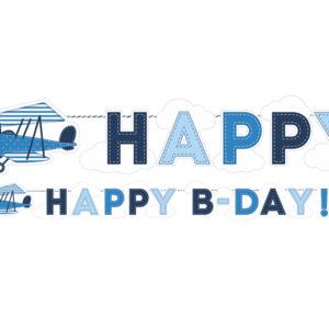 Geburtstagsgirlande mit kleinem Flugzeug