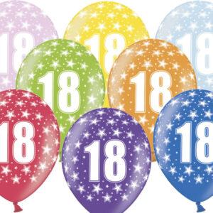 6 Latexballons im Farbenmix - 18.Geburtstag