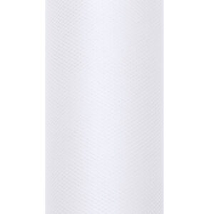 1 Rolle Tüllband - Weiß - 0,08 m x 20 m