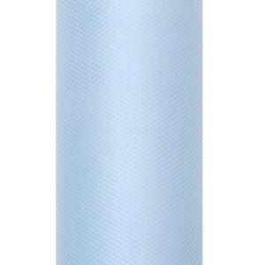 1 Rolle Tüllband - Himmelblau - 0,08 m x 20 m