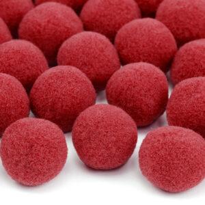 20 rote Plüsch Pompons im Beutel