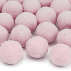 20 rosa Plüsch Pompons im Beutel
