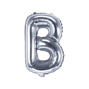 Folienballon Buchstabe B, 35cm, silber
