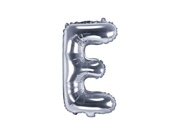 Folienballon Buchstabe E, 35cm, silber