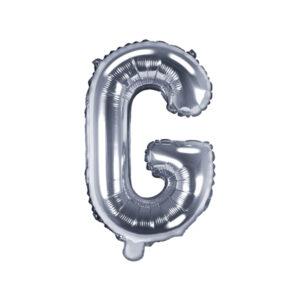 Folienballon Buchstabe G, 35cm, silber