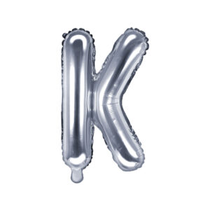 Folienballon Buchstabe K, 35cm, silber