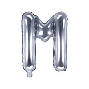 Folienballon Buchstabe M, 35cm, silber