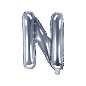 Folienballon Buchstabe N, 35cm, silber