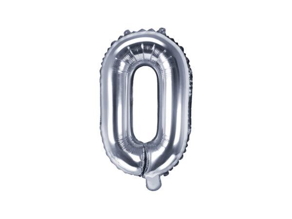 Folienballon Buchstabe O, 35cm, silber