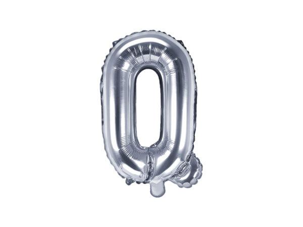 Folienballon Buchstabe Q, 35cm, silber