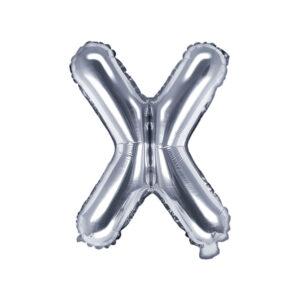 Folienballon Buchstabe X, 35cm, silber
