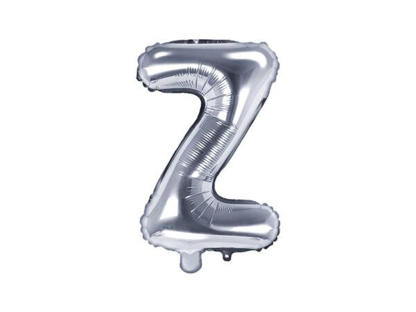 Folienballon Buchstabe Z, 35cm, silber