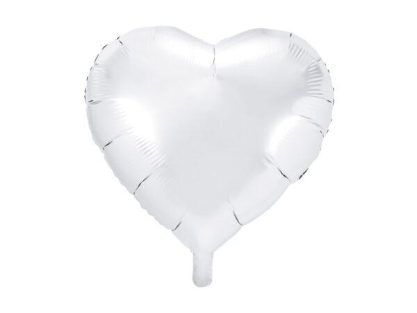 Folienballon Herz, 45cm, weiss