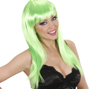 Perücke Natural Look Quality WIG neon grün