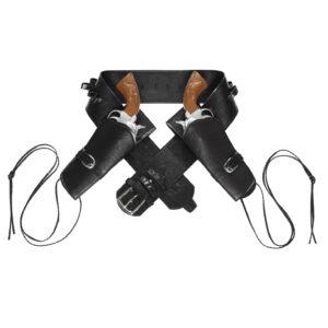 Westernpistolenhalter Holster für zwei Pistolen schwarz
