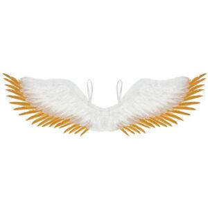 Federflügel weiß-gold 100x25 cm