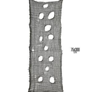 SCHWARZER DEKORATIVER HORRORSTOFF 60x300 cm