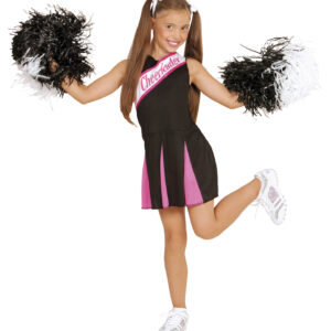 SCHWARZ/PINK CHEERLEADER (Kleid) (140 cm / 8-10 Years)