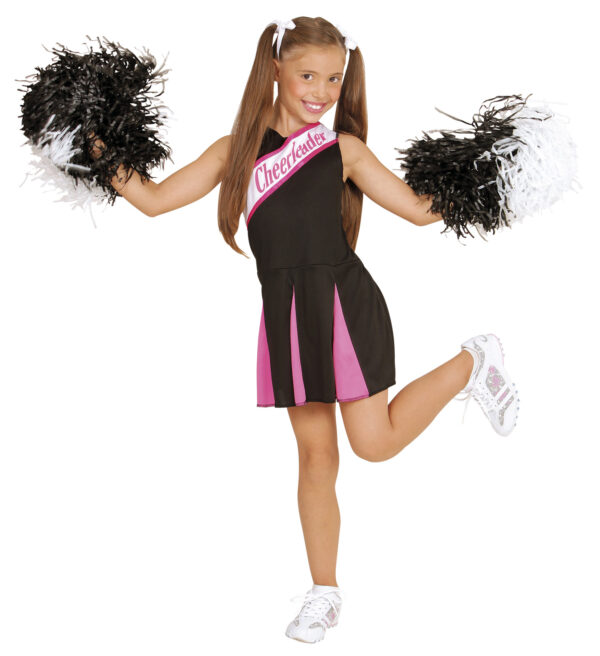 SCHWARZ/PINK CHEERLEADER (Kleid) (158 cm / 11-13 Years)