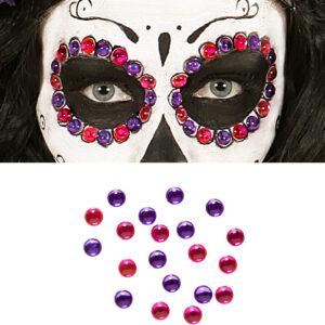 Set Augenschmuck Klebsteine violett/pink