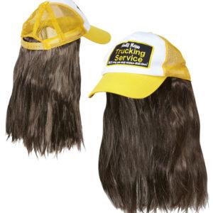 Truckerhut mit Haaren
