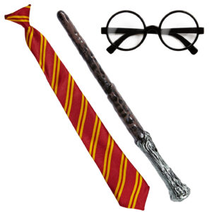 Set Zauberlehrling (Brille, Krawatte, Zauberstab)