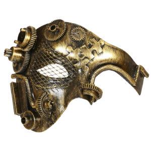 Steampunk-Halbmaske, messing