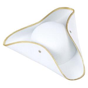 Dreispitz weiß-gold