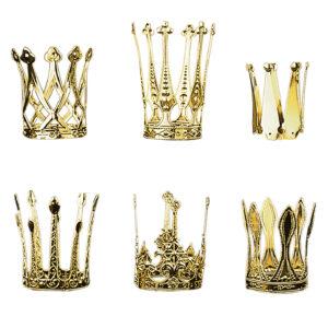 Krone aus golden eloxiertem Aluminium