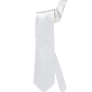 Weisse Satin-Krawatte