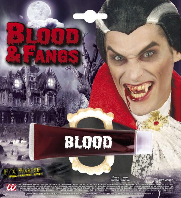 Blut mit Gebiss