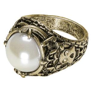 Goldener Ring mit Perle